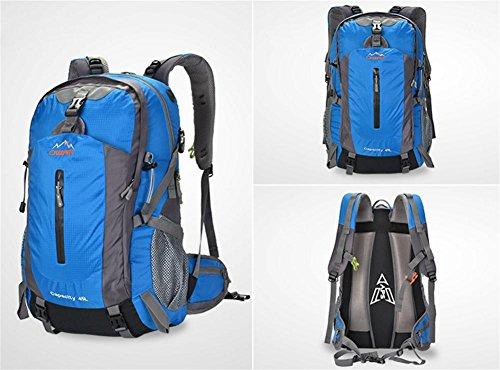 ROBAG Zaini impermeabili uomini e donne di 50L backpacking outdoor viaggi borsa... , blue 50 litres blue 50 litres