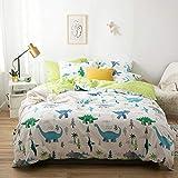 yaonuli Vierteiliger Cartoon-Bettbezug aus Baumwolle für Kinder, dreiteiliger weißer...