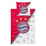 Bettwäsche FC Bayern München FCB + Aufkleber München Forever, Bed Linen, ropa de cama, draps de lit