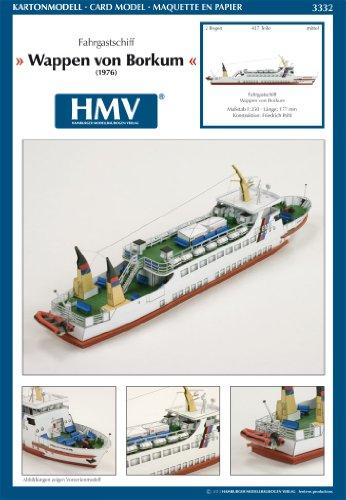 HMV 3332 Kartonmodell Fahrgastschiff Wappen von Borkum gebraucht kaufen  Wird an jeden Ort in Deutschland
