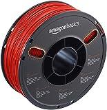 AmazonBasics - Filamento in ABS per stampanti 3D, 1,75mm, Rosso, Bobina da 1 kg