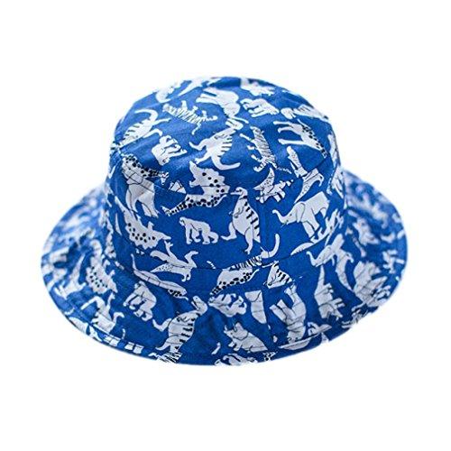La vogue Sombrero de Sol Estampado Dinosaurio Color Azul para Bebé Niños Tamaño 46-54CM (Tamaño50CM)