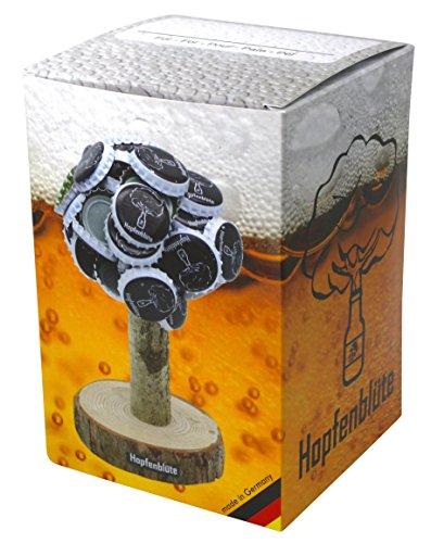 51%2BkSK4k99L - HOPFENBLÜTE ® - Magnetbaum Holz - Männer Geschenk Geburtstag - Partygeschenk - Bis zu 60 Kronkorken - Magnetbaum - Bier