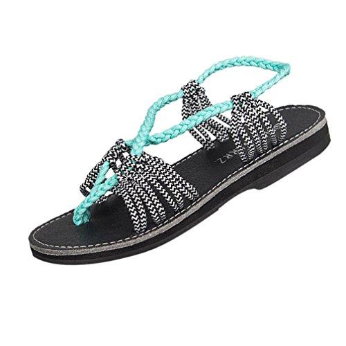 Schuhe Damen Sommer Flach Sandalen DOLDOA Strand Zehentrenner Pantoffel