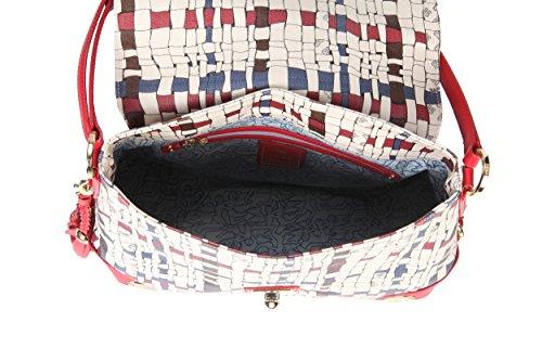 Borsa a tracolla PIERO GUIDI Intreccio Art Donna - 31A061529 Rosso Rubino