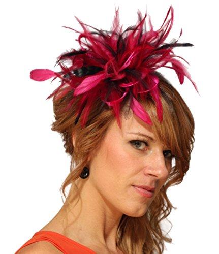 Maighread Stuart Millinery - Bandeau - Femme Multicolore - Hot Pink/Navy Blue