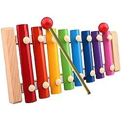 Sannysis® Bebé xilófono Sabiduría Desarrollo de Madera Juguetes de instrumentos