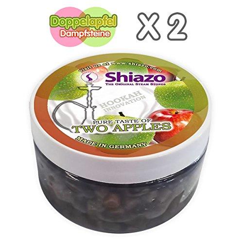 Shiazo 2x 100gr. Dampfsteine Doppelapfel - Stein Granulat - Nikotinfreier Tabakersatz 100g