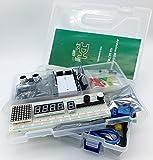 jdhlabstech Mega 2560 Starter Kit Ultra (100% Compatible con Arduino IDE), WiFi, Bluetooth, Sensores, Módulos, Kit de Resistores y Componentes: >220 Elementos! (sin Fuente)