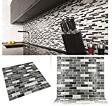 Papel para pared autoadhesivo para cocina y baño, con diseño de azulejos en...