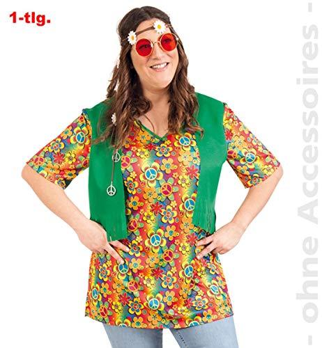 Party-Chic-Disfraz de Hippie para Mujer, Talla 50, Color carbón, (Fritz Fries & Söhne GmbH 13823)