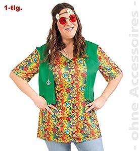 Party-Chic-Disfraz de Hippie para Mujer, Talla 46, Color carbón, (Fritz Fries & Söhne GmbH 13821)