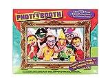 Alsino Photo Booth Props Fotoaccessoires für Witzige Bilder und Selfies Fotorequisiten Hochzeit Geburtstag P329003 Party Selfie Zubehör mit Bilderrahmen 25 Teile