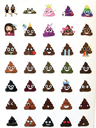 emoji aufkleber Lifetime Inc Poop Emoji Aufkleber Blatt Party Favor 24 Pack (840 Aufkleber), Poo Set.Potty Training, Journal, Gefälligkeiten, Büro, Lehrer, Scrapbooking