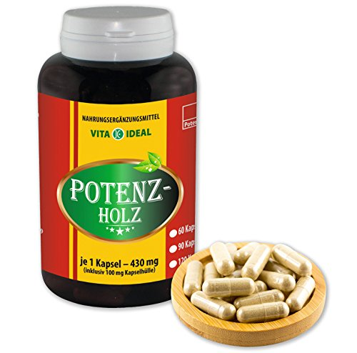 VITA IDEAL ® POTENZHOLZ (Muira puama, Ptychopetalum Olacoides) 180 Kapseln je 430mg, aus rein natürlichen Kräutern, ohne Zusatzstoffe