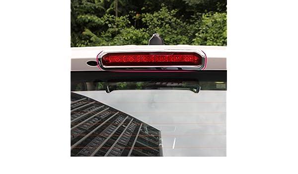 Chrom Styling Au/ßen Auto hinten High Bremslichter Dekoration fit f/ür Opel Vauxhall Mokka Buick Encore 2013 2015