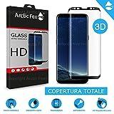 Arctic Fox 3X gehärtetes Glas Schutzfolie 3D gewölbter Displayschutz Transparent Glas HD Anti Scratch für Samsung Galaxy S8