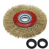 OTOTEC Silverline Ruota Spazzola Circolare in Acciaio detergente per Pulizia smerigliatrice, 12,7cm/15,2cm/8, 125 mm