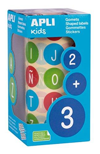 APLI Kids 15126 - Rollo gomets abecedario mayúsculas Ø 20 mm