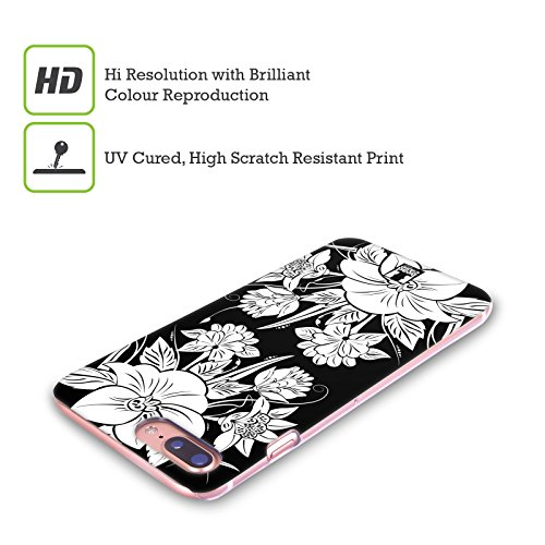 Head Case Designs Farfalla Fiori B&N Cover Retro Rigida per Apple iPhone X Mazzo