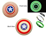 #4: Fidget Spinner Captain America Glow in Dark, ThEssentials spinner shield, Silicon body exclusive hypnotic , premium high quality Sigle bearing in the centre. New style silicon captain america fidget spinner which glows in dark and it has two different sides, front and back two styles with hypnotic feeling when fidgeting. Under 400 with free shipping. (Red) We provide fidget spinner chrome, cubes, metal, batman, light, fidget Cube, Captain America Gold, Metal, and different designs