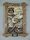 linoows G3810: Nostalgie Holz Werbeschild Motorrad 1967 Biker Wandschild 59x40