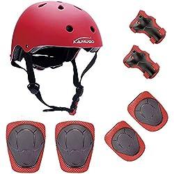 Casco para niños Rodilleras 2-10 bici skate scooter protección ajustables