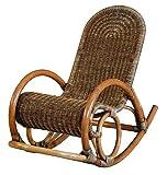 Sessel braun Schaukelstuhl Rattan Toast braun geflochten keine Montage nötig