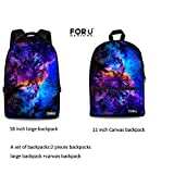 FOR U DESIGNS a Set of Cool Leisure Galaxy Convenient Laptop Backpack 2