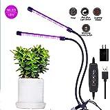 L&Z LED-Pflanzenleuchte, 18W 36 LED-Pflanzenleuchten, Flexibel Einstellbarer Schwanenhals, Dimmbare 5 Lichtstufen, 3 Modi Hydroponik-Timer, Geeignet für Zimmerpflanzen, Gärten, Blumen