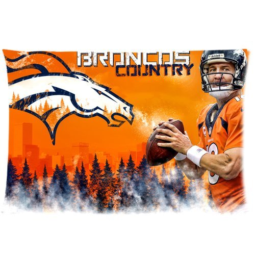 Peyton Manning Denver Broncos Custom Zippered Pillow Cases 20x30 (Twin sides) (Cover Manning)