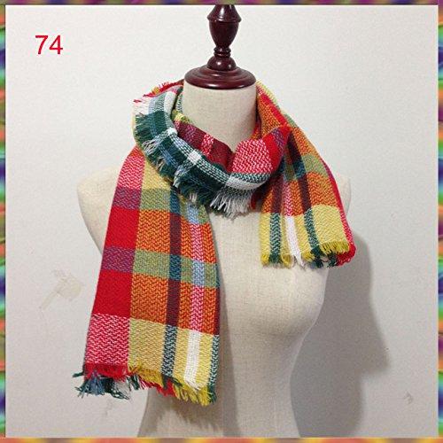 luxury brand plaid children scarf kids warmer Neck shawl baby cute accesorries for Winter Autumn Spring boy girls