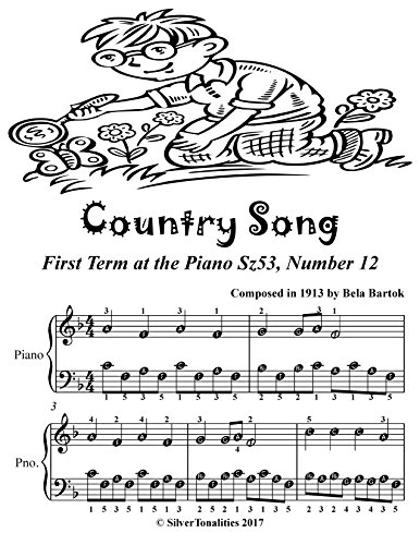 Country Song First Term at the Piano Sz53 Number 12 Easiest Piano Sheet Music (English Edition) (Sheet Piano Bartok Music)