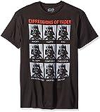 Star Wars Darth Vader Expressions Herrens Schwarz T-Shirt, Schwarz, L