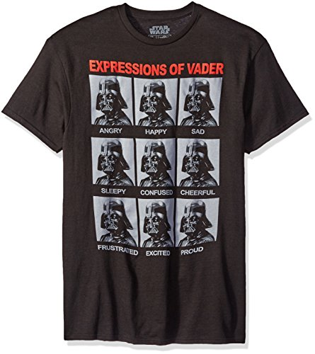 STAR WARS Herren T-Shirt The Many Expressions of Darth Vader - Schwarz - X-Groß
