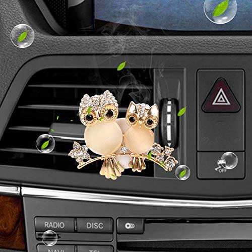 LNWSXB Deodorante per Auto Sfiato Diffusore di fragranza Solido Diamante Gufo Uscita Automatica Profumo Auto-Sty