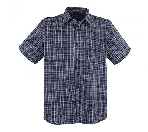 XXL Herren Kurzarm Hemd in anthra-blau große Größen von 3XL