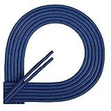 Di Ficchiano Lacets ciré ronds premium Ø 2–3mm, longueur 45–120cm, indéchirable 120 cm bleu moyen