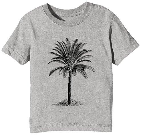 Palme Kinder Unisex Jungen Mädchen T-Shirt Rundhals Grau Kurzarm Größe XL Kids Boys Girls Grey X-Large Size XL