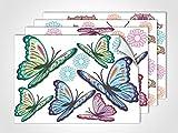 GRAZDesign 411025_4 Fenstersticker Schmetterlinge | Fensterfolie bunte Aufkleber | Glasdekor für Fenster (DIN A4 (4Stück))