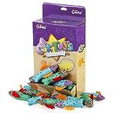 Chiwava 12 Piezas 9 cm Juguetes para Gatos Brillante Pescados con Hierba Gatera Suave Gato Gatito Interactivo, Colores Variados