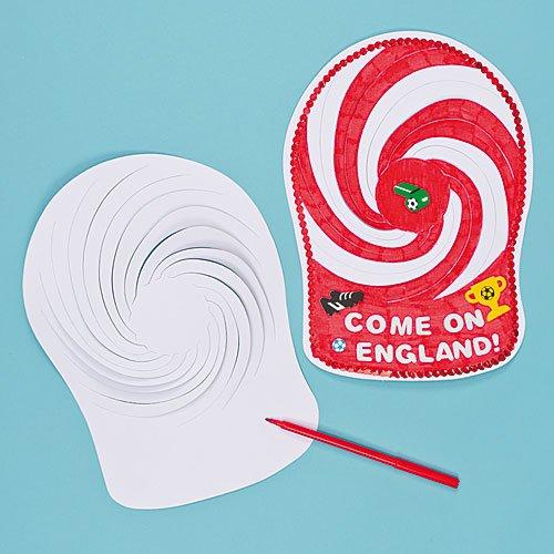 Kreative Spiralmützen für Kinder zum Bemalen, Gestalten, Personalisieren und Tragen. Toll für den Sommer - (12 Stück)