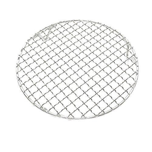 InBlossoms Koreanische Grill-Netze Edelstahl-Grill-Netze Carbon-Grill-Netze Rundes Grill-Netz 304 Rundfuß-Bratnetz26.5cm