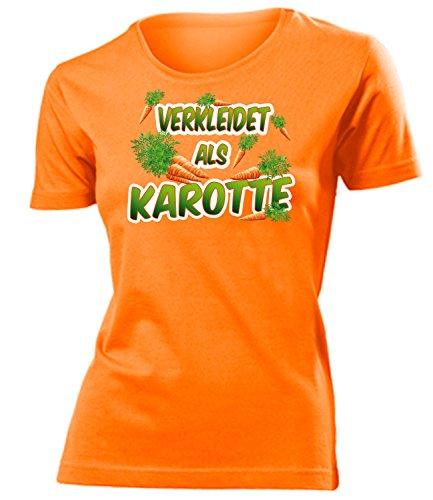 Karotte 4992 Kostüm Kleidung Damen T-Shirt Frauen Karneval Fasching Faschingskostüm Karnevalskostüm Paarkostüm Gruppenkostüm Orange - Frauen Karotten Kostüm