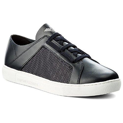 Emporio Armani Logo Pump Herren Sneaker Blau