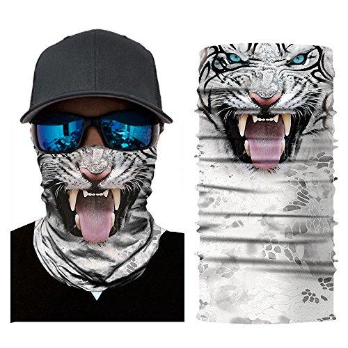 Colorful Damen/Herren Multifunktionstuch   Sturmmaske   Bandana   Schlauchtuch   Halstuch für Motorrad Fahrrad Ski Paintball Gamer Karneval Kostüm 3D Tiere Maske (G)