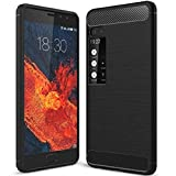 WEIFA MeiZu Pro7 Soft Carben Fiber Case, Very Light Slim Lines Style Soft Good Hand Feeling, 2018 Newest Anti-Drop Protection Cellphone Cover Case for MeiZu Pro 7 Black