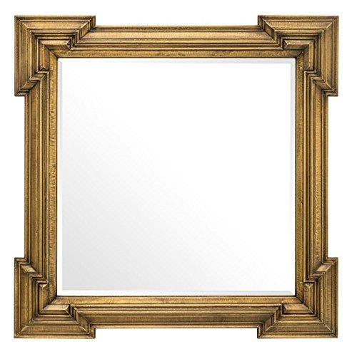 Casa Padrino Luxus Spiegel Antik Messing 107 x H. 107 cm - Designer Wandspiegel