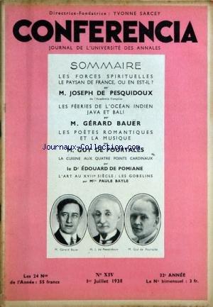 CONFERENCIA [No 14] du 01/07/1938
