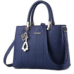 BestoU Femme Sac a Main PU Cuir Bandoulière (Bleu)